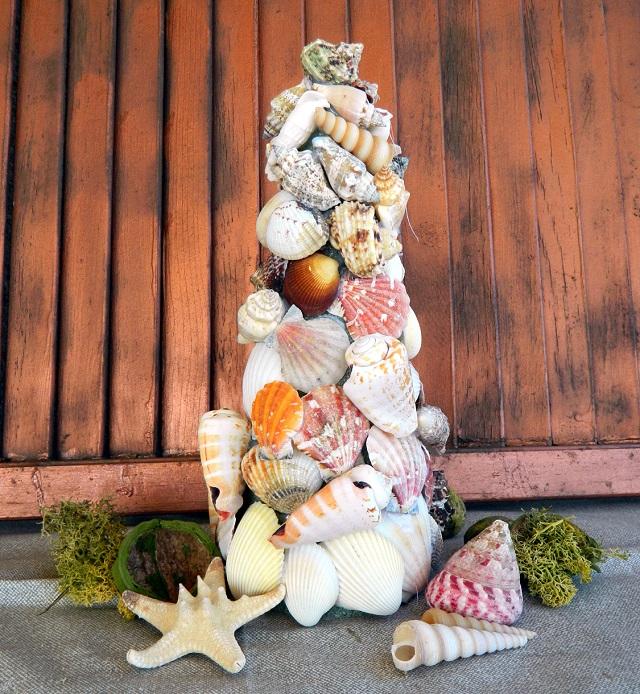 Seashell Christmas Tree Elle Decor Christmas tips and suggestions Elle Decor Christmas tips and suggestions Ballard Designs Seashell Tree 5