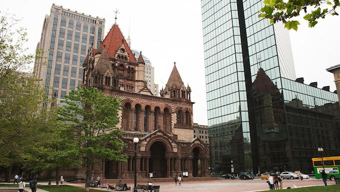 Trinity Church, Boston (1877) by H.H. Richardson MUST-SEE: TOP 10 BUILDINGS IN AMERICA THAT CHANGED THE HISTORY  MUST-SEE: TOP 10 BUILDINGS IN AMERICA THAT CHANGED THE HISTORY  Trinity Church Boston 1877 by H