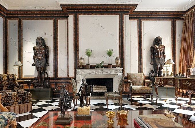 Top interior designers in ny juan pablo molyneux for New york townhouse interior